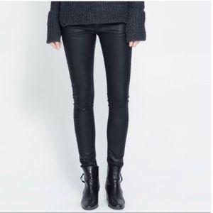Zara Premium Slim Fit Coated Jeans | NWT
